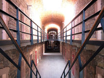 Stairs of prison Stock Photos