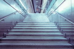 Stairs in a public passage Royalty Free Stock Photography