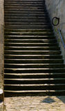 Stairs from the quays to the street, Paris Royalty Free Stock Photo