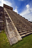 The stairs of   quetzalcoatl Stock Photos