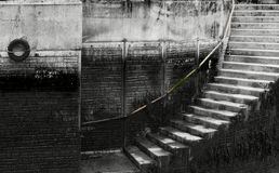 Stairs and railing Royalty Free Stock Photography