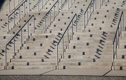 Stairs and railings Royalty Free Stock Photos