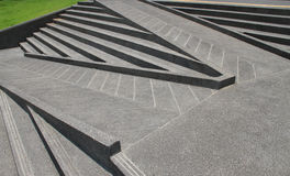 Stairs and ramps made from cements. Stock Image