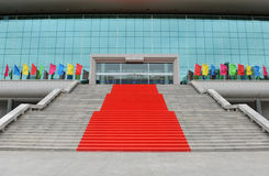 Stairs with red carpet Stock Image