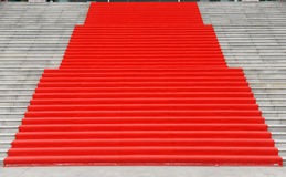 Stairs with red carpet Stock Photography