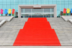 Stairs with red carpet Stock Photos