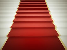 Stairs with red carpet Royalty Free Stock Image