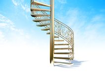 Stairs. Render stairs going to upward Stock Photo