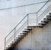 Stairs rendered on the wall Stock Photography
