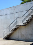 Stairs rendered on the wall Royalty Free Stock Image