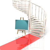 Stairs represents the invitation Stock Photography