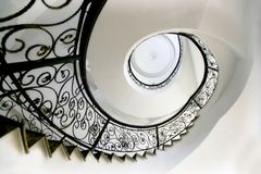 Stairs of revolve. Revolve a stairs to usually be called a spiral or spiral type stairs, usually is around a list pillar decoration, the flat surface present Stock Photos