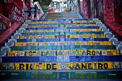 Stairs in rio de janeiro Royalty Free Stock Images
