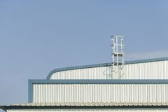Stairs on the roof of the factory royalty free stock photos