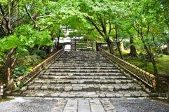 Stairs at Ryoanji Temple at Kyoto, Japan Royalty Free Stock Image