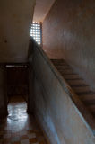 Stairs at S21 Tuol Sleng in Phnom Penh Stock Photo