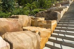 Stairs Sandstone blocks Barangaroo Reserve Royalty Free Stock Images