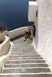 Stairs at Santorini island, Cyclades, Greece. Stock Image
