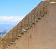 Stairs in Santra Barbara Castle Royalty Free Stock Images