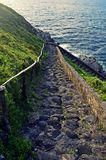 Stairs by the Sea. Batanes viewdeck, chawa, philippines Stock Photography
