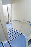 Stairs from the second floor double-Decker rail car Royalty Free Stock Images