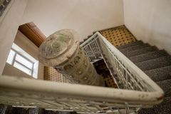 Stairs from second floor to first floor royalty free stock images