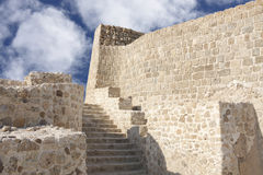 Stairs for the second level in Bahrain fort Stock Photos
