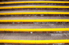 Stairs. A set of yellow stairs royalty free stock photography