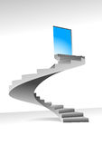 Stairs and shine door. Stairs to up for bright shining door,  illustration can be scale to any size Stock Image