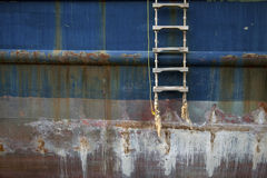 Stairs on ship. Stairs at the side of a ship Royalty Free Stock Photography
