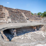 Stairs showing two contructions phases at Teotihuacan Ruins - Mexico City, Mexico Royalty Free Stock Photo