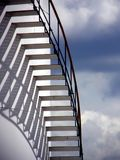 Stairs in the Sky. A staircase on a large undustrial storage tank Royalty Free Stock Photos