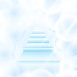 Stairs in sky Stock Image