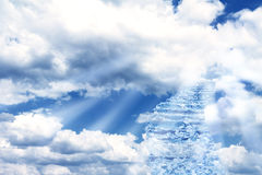 Stairs in sky Royalty Free Stock Photo