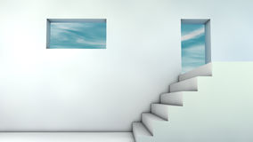 Stairs and sky Royalty Free Stock Photography