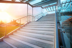 Stairs and sky on background with no people Royalty Free Stock Photo