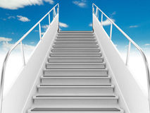 Stairs in sky Stock Photos