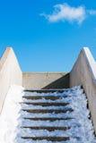 Stairs with snow Stock Photos