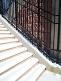 Stairs with snow Royalty Free Stock Photo