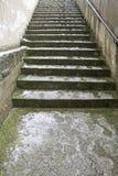 Stairs snowfall Royalty Free Stock Image