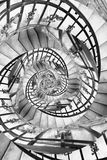 Stairs spiral droste. Particular of spiral stairs with droste effect Royalty Free Stock Photo