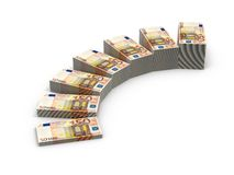 Stairs from stacks of money Royalty Free Stock Photos