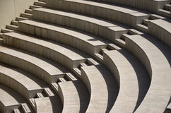 Stairs in a stadium. Rows of concrete stairs in a stadium in Sevilla, Spain Royalty Free Stock Photo