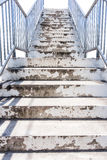 Stairs with steel handrails Royalty Free Stock Photography