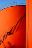 Stairs on Steel Tanks Stock Images