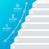 Stairs Step Banner Infographic Template. Vector. Stairs Step Banner Infographic Template. Growth and Business Development. Vector illustration royalty free illustration