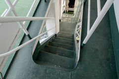 Stairs step down in cruise ship Stock Image