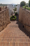 Stairs with steps leading to the sea at luxury Royalty Free Stock Photo