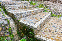 Stairs stone path in garden Stock Photo