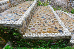 Stairs stone path in garden Stock Photography